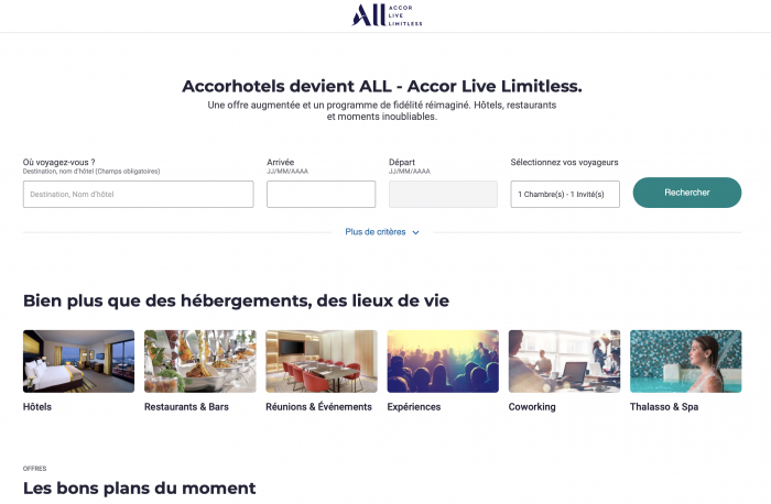 Accordhotels devient ALL - Accor Live Limitless