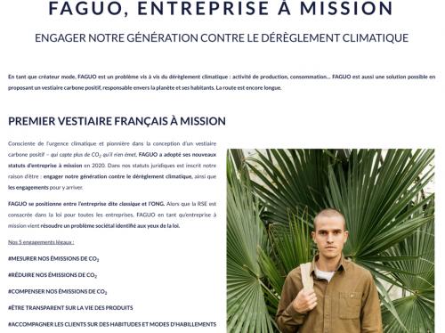 Faguo, entreprise à mission